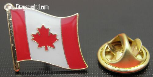 Canada Canadian Country Flag - Enamel Lapel / Tie or Hat Pin Badge #1 - New